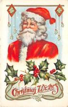hol016064 - Santa Claus Postcard Old Vintage Christmas Post Card