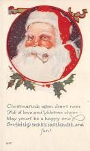 hol016066 - Santa Claus Postcard Old Vintage Christmas Post Card