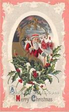 hol016067 - Santa Claus Postcard Old Vintage Christmas Post Card