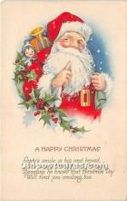 hol016068 - Santa Claus Postcard Old Vintage Christmas Post Card