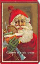 hol016070 - Santa Claus Postcard Old Vintage Christmas Post Card