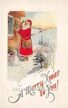 hol016072 - Santa Claus Postcard Old Vintage Christmas Post Card