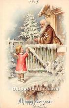 hol016075 - Santa Claus Postcard Old Vintage Christmas Post Card
