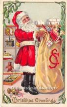 hol016076 - Santa Claus Postcard Old Vintage Christmas Post Card