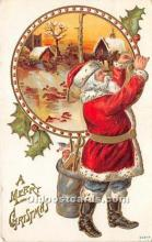hol016077 - Santa Claus Postcard Old Vintage Christmas Post Card
