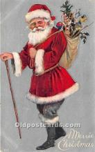 hol016079 - Santa Claus Postcard Old Vintage Christmas Post Card