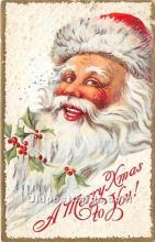 hol016080 - Santa Claus Postcard Old Vintage Christmas Post Card