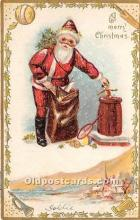 hol016081 - Santa Claus Postcard Old Vintage Christmas Post Card