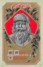 hol016086 - Santa Claus Postcard Old Vintage Christmas Post Card