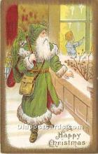 hol016087 - Santa Claus Postcard Old Vintage Christmas Post Card