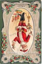 hol016088 - Santa Claus Postcard Old Vintage Christmas Post Card
