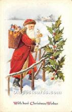 hol016089 - Santa Claus Postcard Old Vintage Christmas Post Card