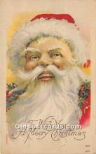 hol016094 - Santa Claus Postcard Old Vintage Christmas Post Card