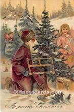 hol016097 - Santa Claus Postcard Old Vintage Christmas Post Card