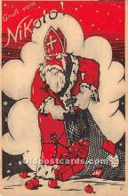 hol016100 - Santa Claus Postcard Old Vintage Christmas Post Card