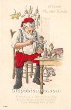 hol016104 - Santa Claus Postcard Old Vintage Christmas Post Card