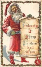 hol016107 - Santa Claus Postcard Old Vintage Christmas Post Card