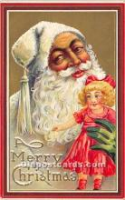 hol016108 - Santa Claus Postcard Old Vintage Christmas Post Card