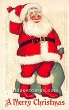 hol016112 - Santa Claus Postcard Old Vintage Christmas Post Card