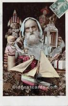 hol016113 - Santa Claus Postcard Old Vintage Christmas Post Card