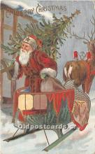 hol016114 - Santa Claus Postcard Old Vintage Christmas Post Card
