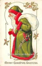 hol016117 - Santa Claus Postcard Old Vintage Christmas Post Card