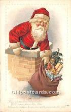 hol016118 - Santa Claus Postcard Old Vintage Christmas Post Card