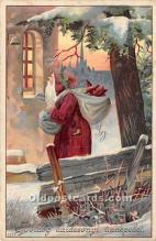 hol016119 - Santa Claus Postcard Old Vintage Christmas Post Card