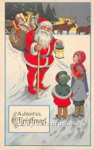 hol016120 - Santa Claus Postcard Old Vintage Christmas Post Card