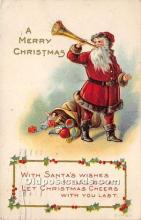 hol016122 - Santa Claus Postcard Old Vintage Christmas Post Card