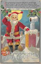 hol016123 - Santa Claus Postcard Old Vintage Christmas Post Card