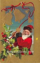 hol016125 - Santa Claus Postcard Old Vintage Christmas Post Card