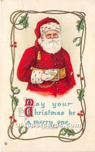 hol016127 - Santa Claus Postcard Old Vintage Christmas Post Card