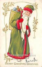 hol016129 - Santa Claus Postcard Old Vintage Christmas Post Card