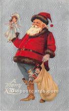 hol016132 - Santa Claus Postcard Old Vintage Christmas Post Card
