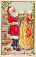 hol016133 - Santa Claus Postcard Old Vintage Christmas Post Card
