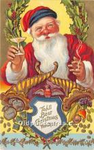 hol016136 - Santa Claus Postcard Old Vintage Christmas Post Card