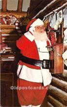 hol016137 - Santa Claus Postcard Old Vintage Christmas Post Card