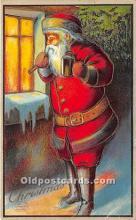 hol016139 - Santa Claus Postcard Old Vintage Christmas Post Card