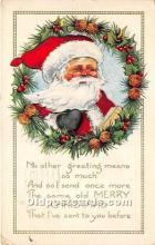 hol016141 - Santa Claus Postcard Old Vintage Christmas Post Card