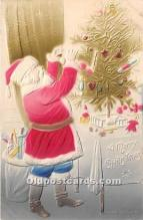 hol016143 - Santa Claus Postcard Old Vintage Christmas Post Card