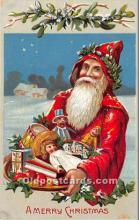 hol016144 - Santa Claus Postcard Old Vintage Christmas Post Card