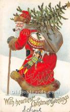hol016145 - Santa Claus Postcard Old Vintage Christmas Post Card