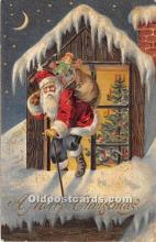 hol016149 - Santa Claus Postcard Old Vintage Christmas Post Card