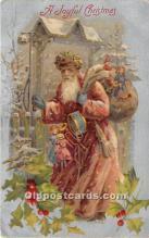 hol016150 - Santa Claus Postcard Old Vintage Christmas Post Card