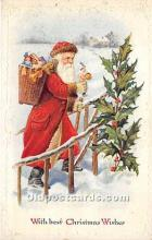 hol016151 - Santa Claus Postcard Old Vintage Christmas Post Card