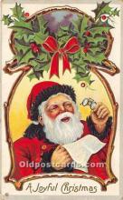 hol016152 - Santa Claus Postcard Old Vintage Christmas Post Card