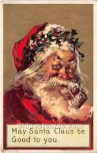 hol016153 - Santa Claus Postcard Old Vintage Christmas Post Card