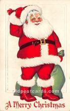 hol016154 - Santa Claus Postcard Old Vintage Christmas Post Card