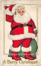 hol016156 - Santa Claus Postcard Old Vintage Christmas Post Card